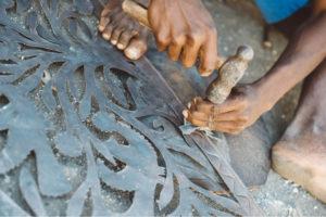 Handgemaakte-metal-Art-sfeerbeeld