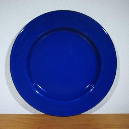 Emaille-Diner-bord-Vintage-Wit-26cm